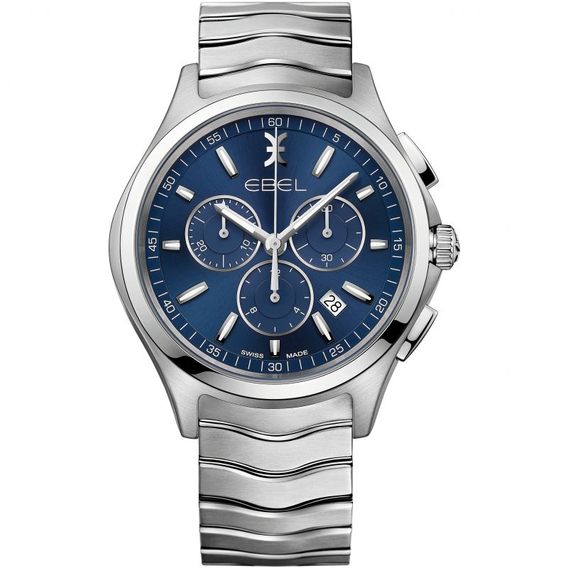 Mens Ebel Wave Chronograph Watch