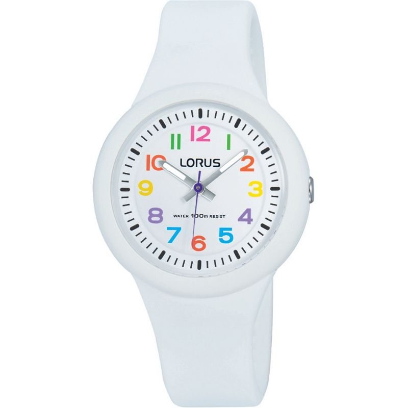 Image of  			   			  			   			  Childrens Lorus Soft white silicone strap Watch