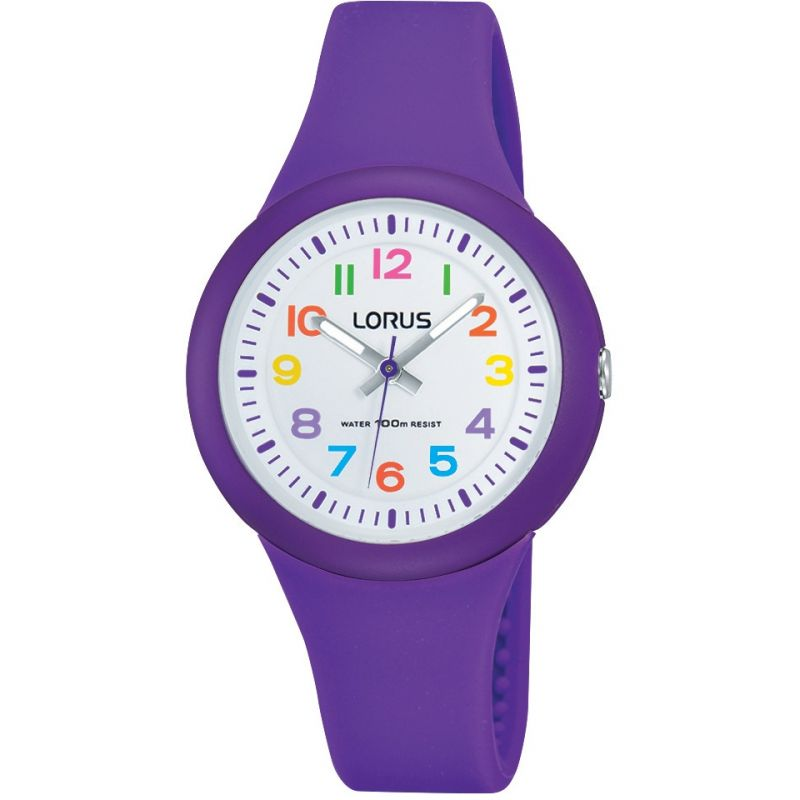 Image of  			   			  			   			  Childrens Lorus Soft purple silicone strap Watch
