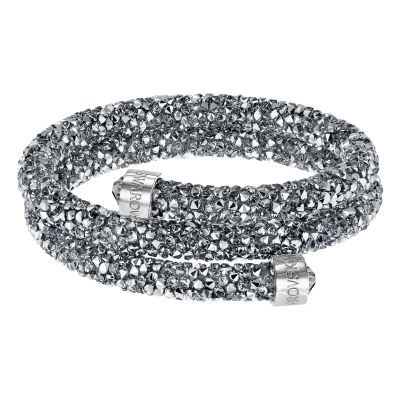 Ladies Swarovski Rhodium Plated Crystaldust Bangle 5255898