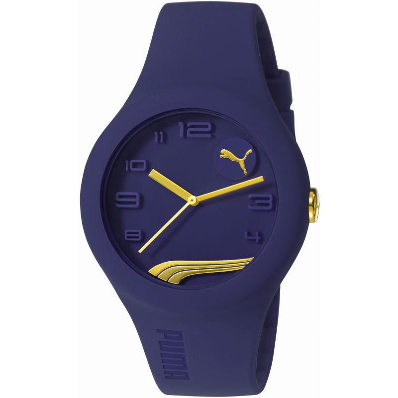 Mens Puma PU10300 FORM - blueberry gold Watch PU103001016