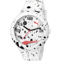 Mens Puma PU10321 FORM XL - white splash Watch