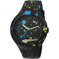 Mens Puma PU10321 FORM XL - black splash Watch