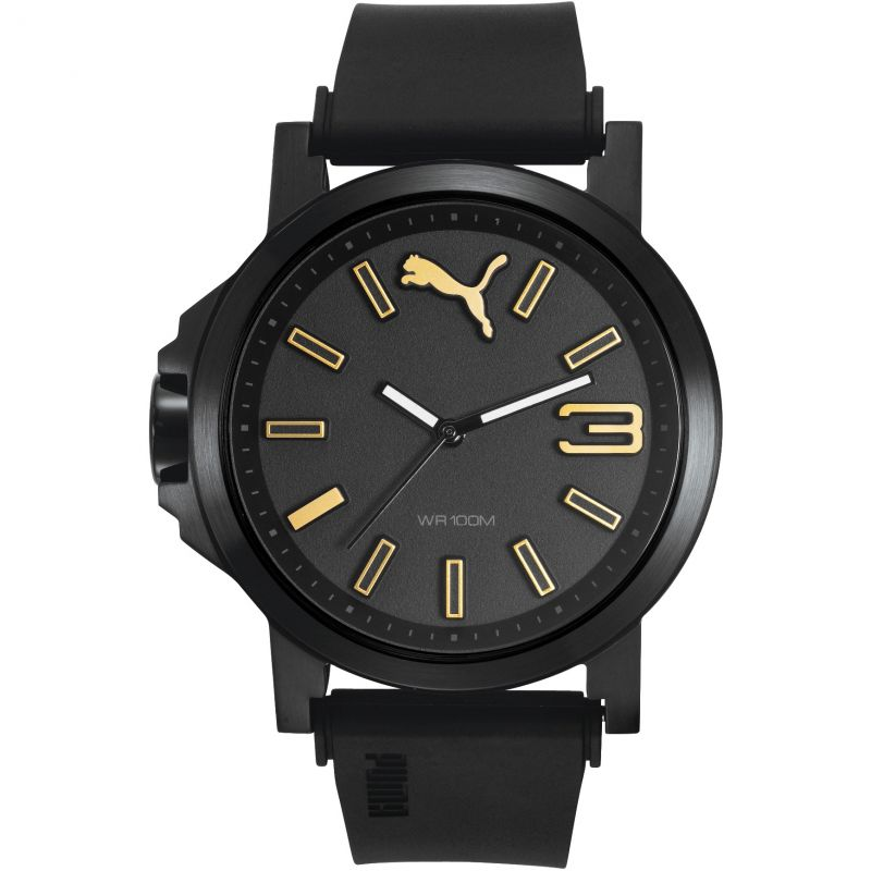 Mens Puma PU10346 ULTRASIZE 45 - black gold Watch