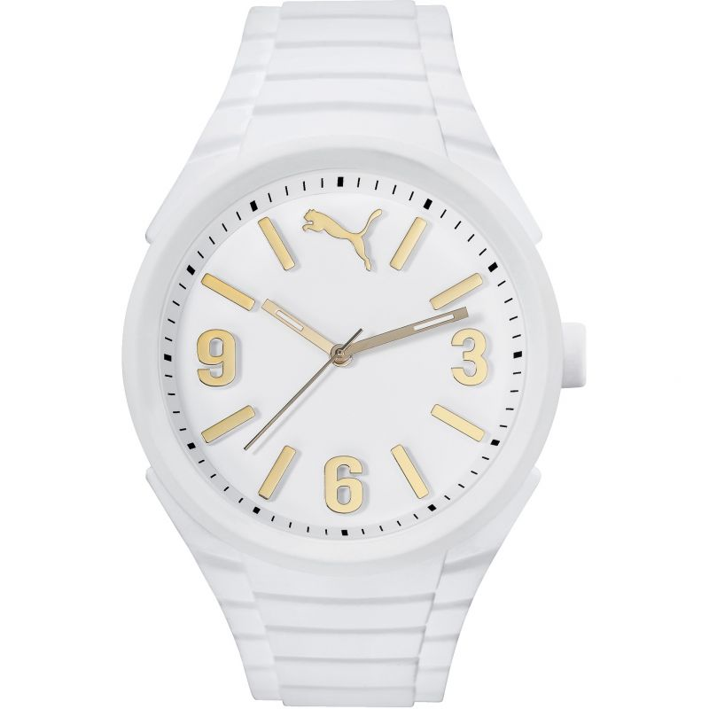 Mens Puma PU10359 GUMMY - white gold Watch PU103592013