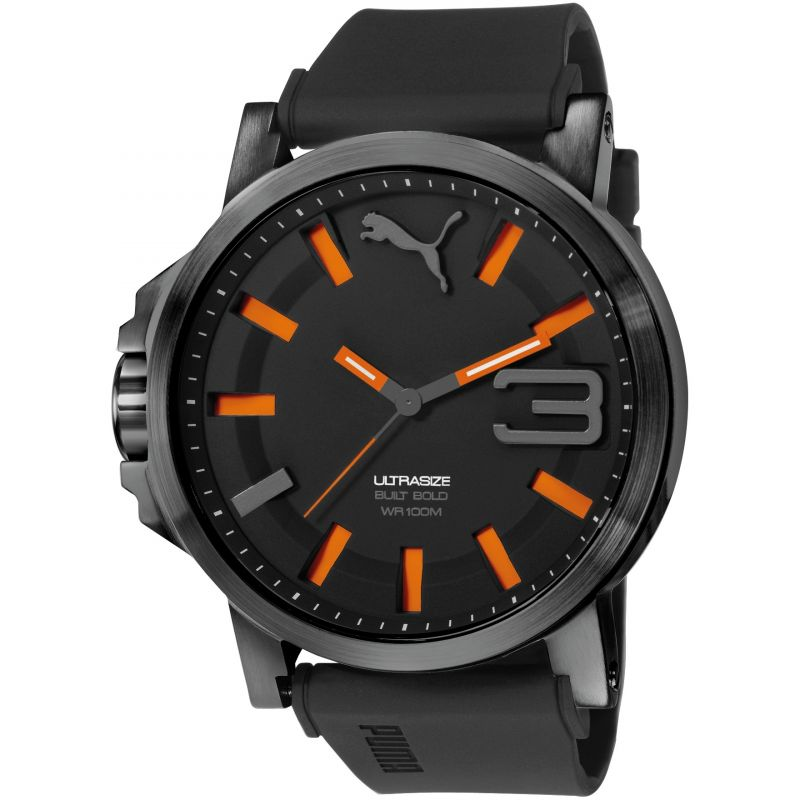 Mens Puma PU10391 ULTRASIZE 50 BOLD - black orange Watch PU103911001