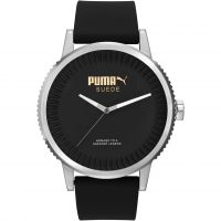 Mens Puma PU10410 SUEDE - black Watch
