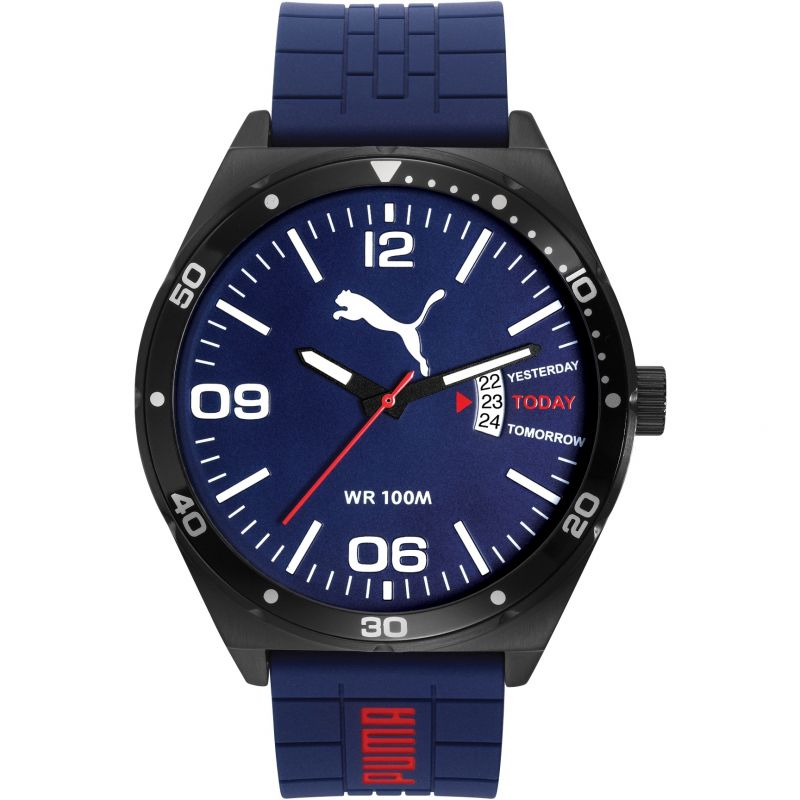 Mens Puma PU10415 DAY ESSENTIAL - navy black Watch