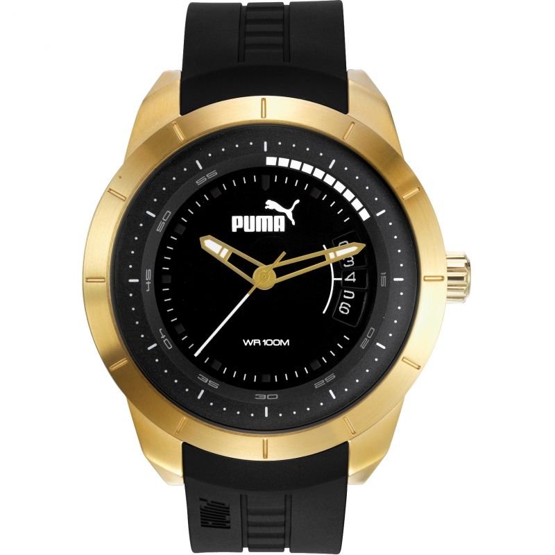 Mens Puma PU10419 MODERN MOTORSPORT - gold black Watch