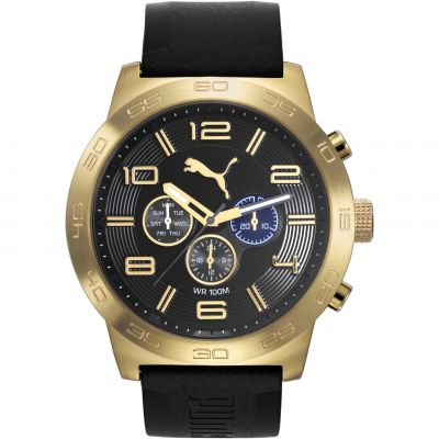 Mens Puma PU10422 DEFINITION - gold black Watch PU104221004