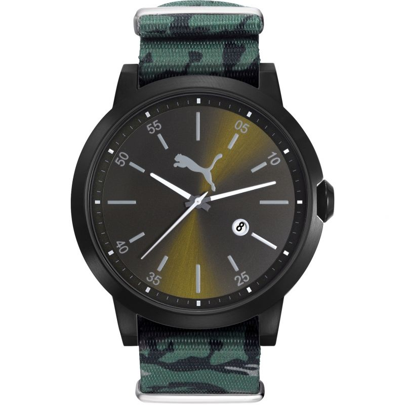 Mens Puma PU10423 LIBERATED - black camo nato Watch