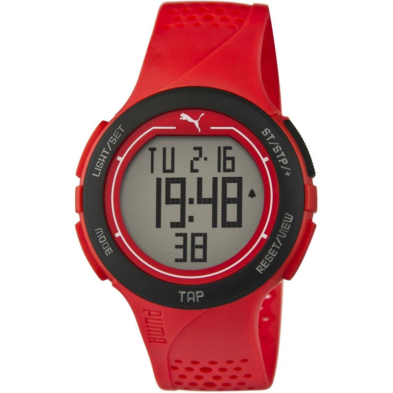 Mens Puma PU91121 TOUCH - red black Alarm Chronograph Watch PU911211002
