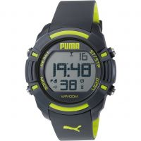 Mens Puma PU91122 SIXTY BYTES - grey yellow Alarm Chronograph Watch