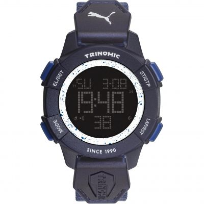a348c7a7718 Mens Puma PU91127 TRINOMIC - blue white Alarm Chronograph Watch PU911271004