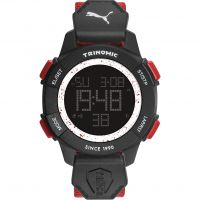 Mens Puma PU91127 TRINOMIC - red white Alarm Chronograph Watch