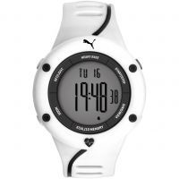 Mens Puma PU91136 CARDIAC 01 - white grey Alarm Chronograph Watch