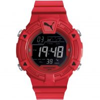 Mens Puma PU91138 COLLIDE DIGITAL - red black Alarm Chronograph Watch