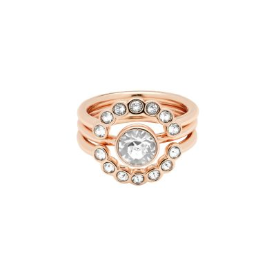 Ladies Ted Baker Rose Gold Plated Cadyna Concentric Crystal Ring SM TBJ1317-24-02ML