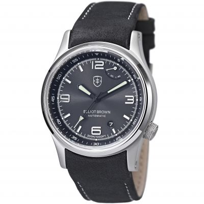 Elliot Brown The Tyneham Herrenuhr in Schwarz 305-005-L15