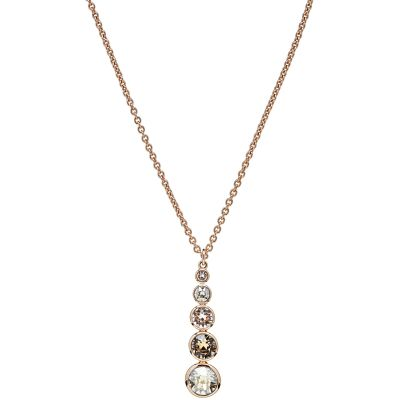 Karen Millen Dames Crystal Drop Necklace PVD verguld Rose KMJ049-24-161