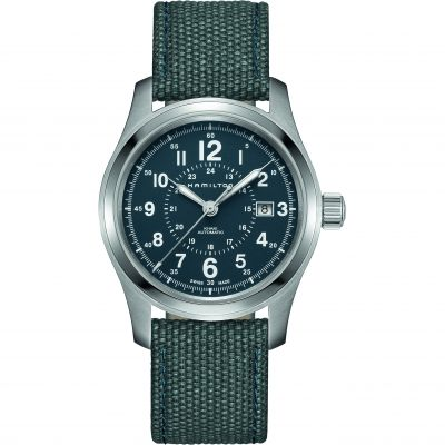 Hamilton Khaki Field 42mm Herrenuhr in Blau H70605943