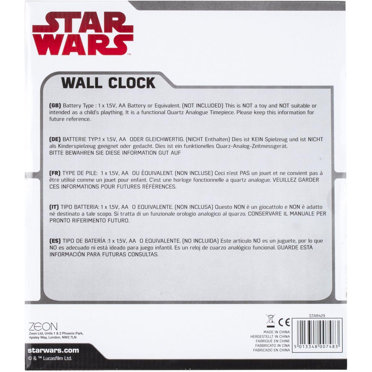 Childrens Star Wars Stormtrooper Wall Clock Watch (STAR429 ...
