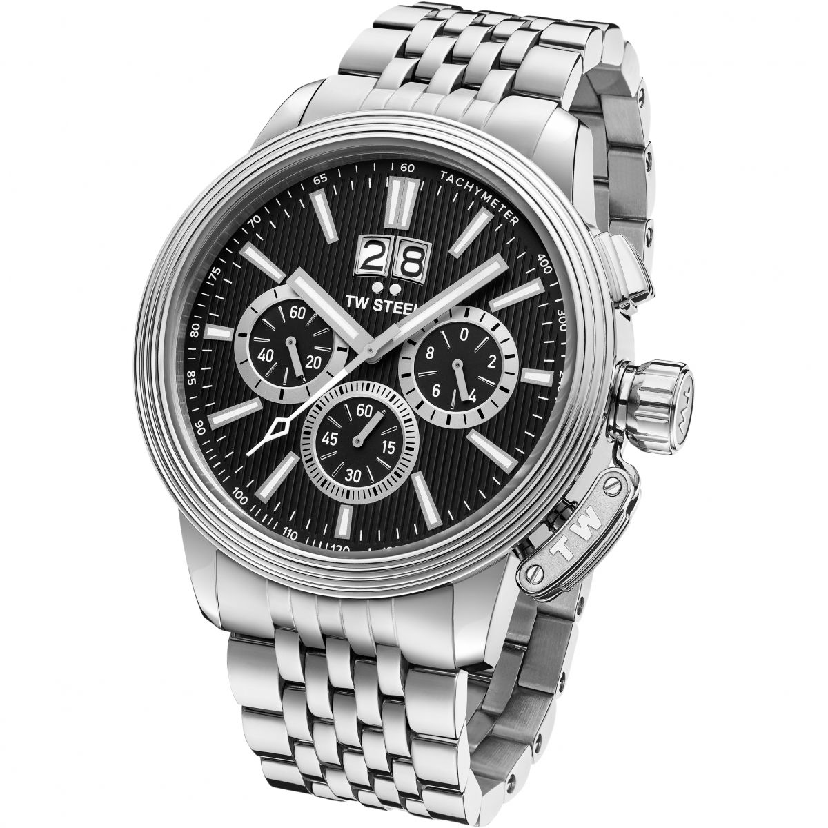 watches steel tw watch chronograph