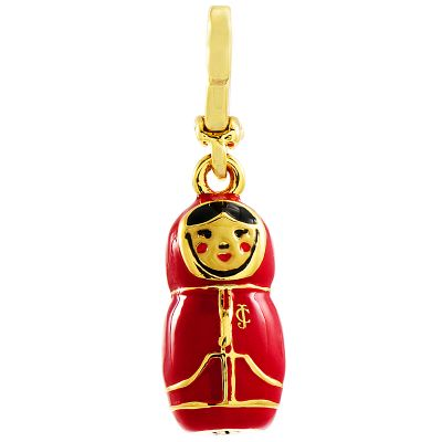 Ladies Juicy Couture PVD Gold plated Matryoska Doll Charm WJW57504-712