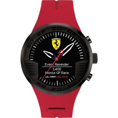 Scuderia Ferrari Ultraveloce Connect Hybrid Herrenuhr in Rot 0830374