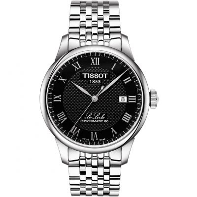 Tissot T-Classic Le Locle Powermatic 80 Herrenuhr in Silber T0064071105300