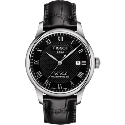 Tissot T-Classic Le Locle Powermatic 80 Herrenuhr in Schwarz T0064071605300