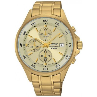 Mens Seiko Sports Chronograph Watch SKS482P1