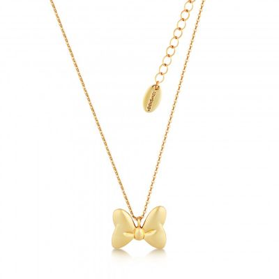 Ladies Disney Couture PVD Gold plated Minnie Bow Necklace DYN007