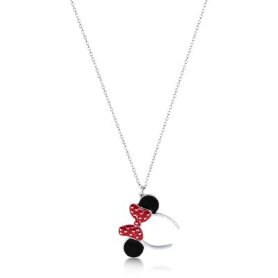 Ladies Disney Couture Stainless Steel Minnie Mouse Red Enamel Headband Necklace DSN018