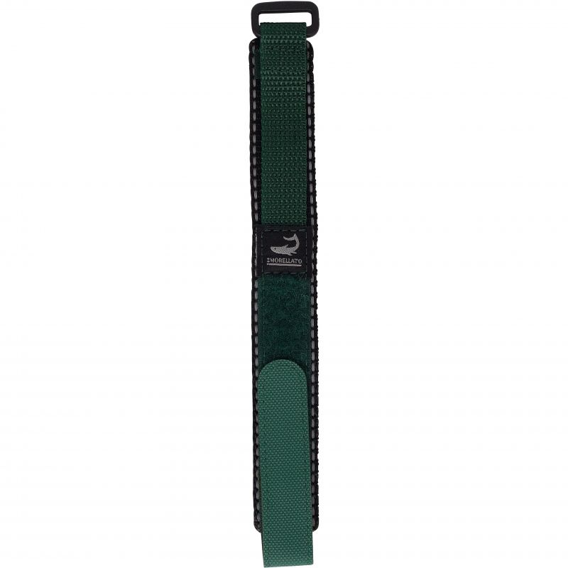 Mens Morellato Stainless Steel Aquasport 2 Green Nylon Rip Strap 18mm A01U1620806075M018