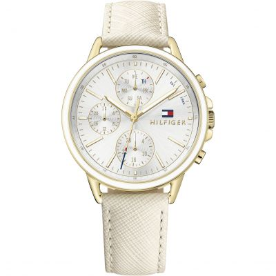 Tommy Hilfiger Carly Damenchronograph in Cremefarben 1781790