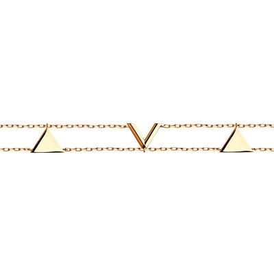 Ladies Sokolov 14 Carat Gold Geometric Bracelet 61051034