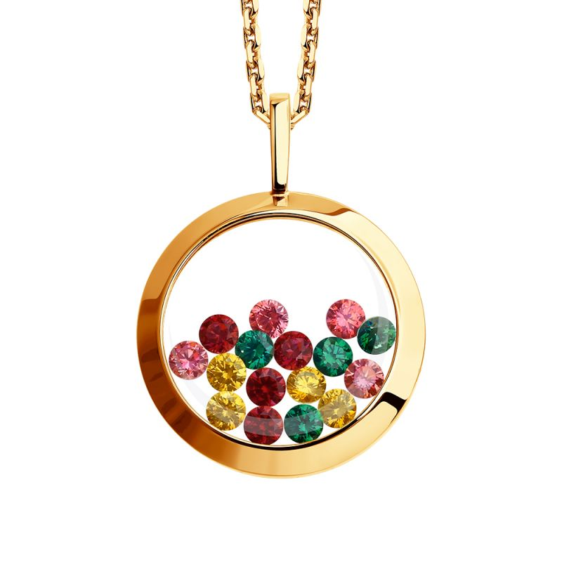 Ladies Sokolov 14 Carat Gold Kaleidoscope Cubic Zirconia Pendant