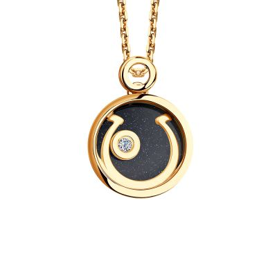 Ladies Sokolov 14 Carat Gold Night & Day Small Pendant 1030454