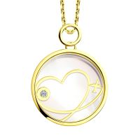 Ladies Sokolov 14 Carat Gold Night & Day Pendant 511030435