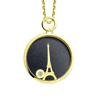Ladies Sokolov 14 Carat Gold Night & Day Large Pendant 511030424