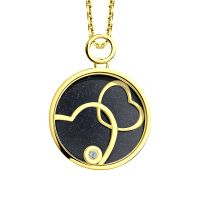 Ladies Sokolov 14 Carat Gold Night & Day Large Pendant 511030432