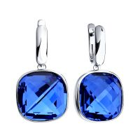 Sokolov Express Yourself Blue Crystal Earrings JEWEL