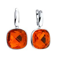 Ladies Sokolov Sterling Silver Express Yourself Red Crystal Earrings 94022063