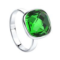 Ladies Sokolov Sterling Silver Express Yourself Green Crystal Ring size N 94011877