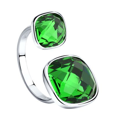 Biżuteria damska Sokolov Express Yourself Green Crystal Ring size N 94011880