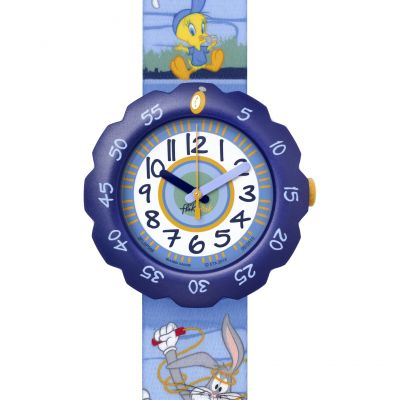 Childrens Flik Flak Looney Tunes Fit and Fun Watch FLSP008