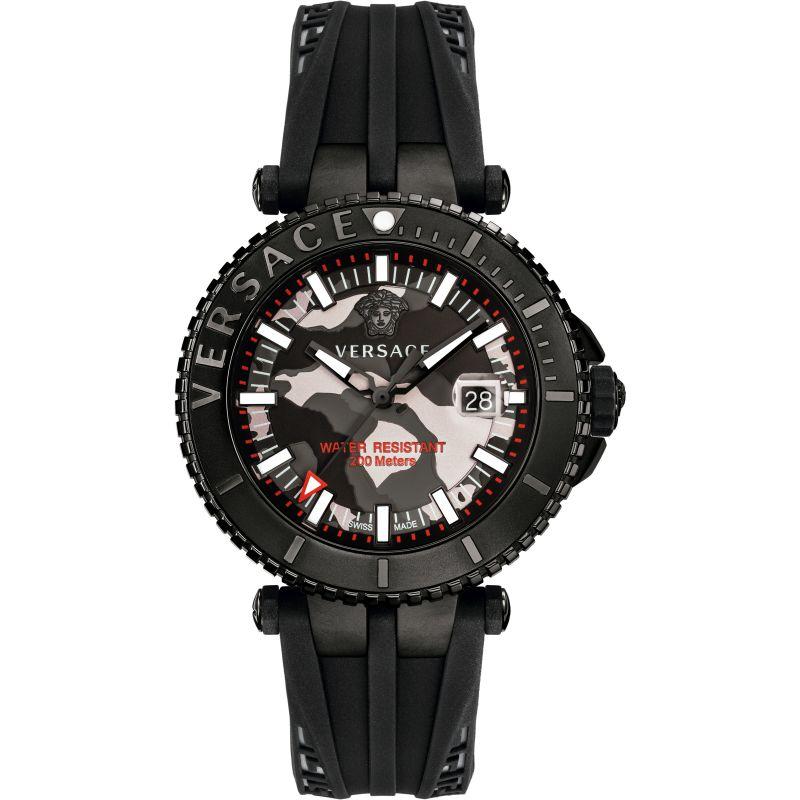 Mens Versace V-Race Diver Watch