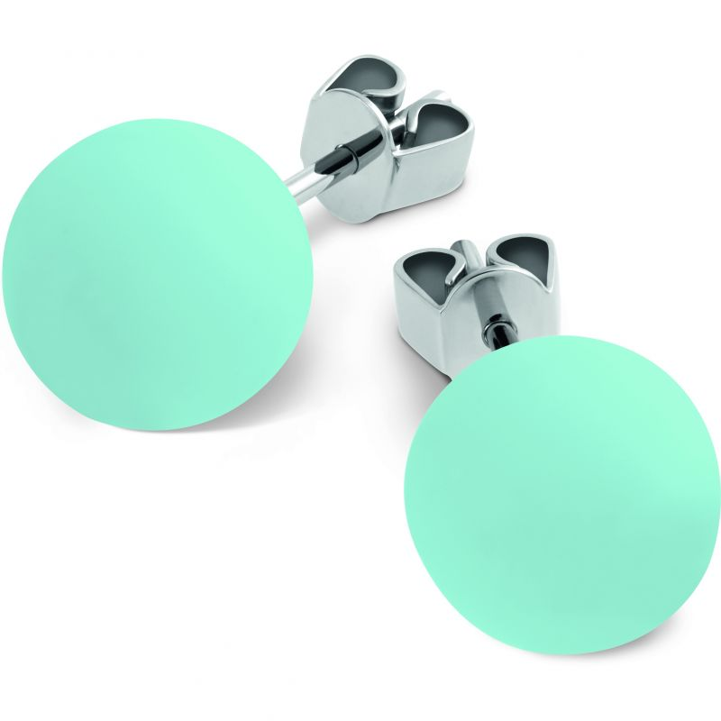 Ladies Swatch Bijoux Stainless Steel Acolori Blue Stud Earrings JES025-U