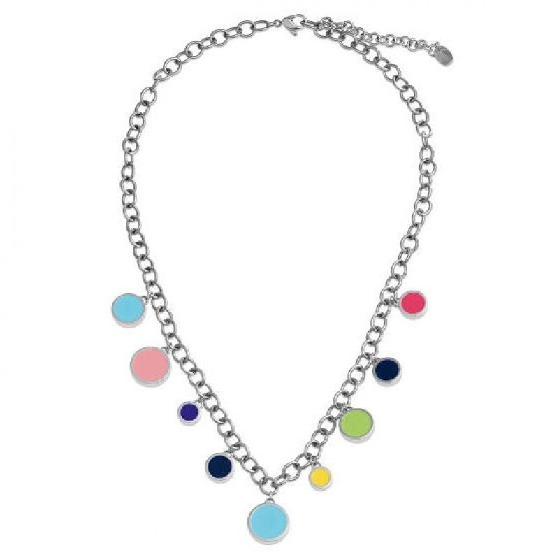 Ladies Swatch Bijoux Silver Plated Colortwist Multicolour Necklace JPD045-U